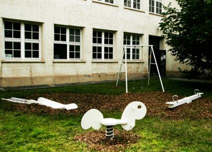 white playground