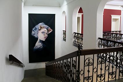 Charlie Stein Villa Merkel Staircase Self Portrait