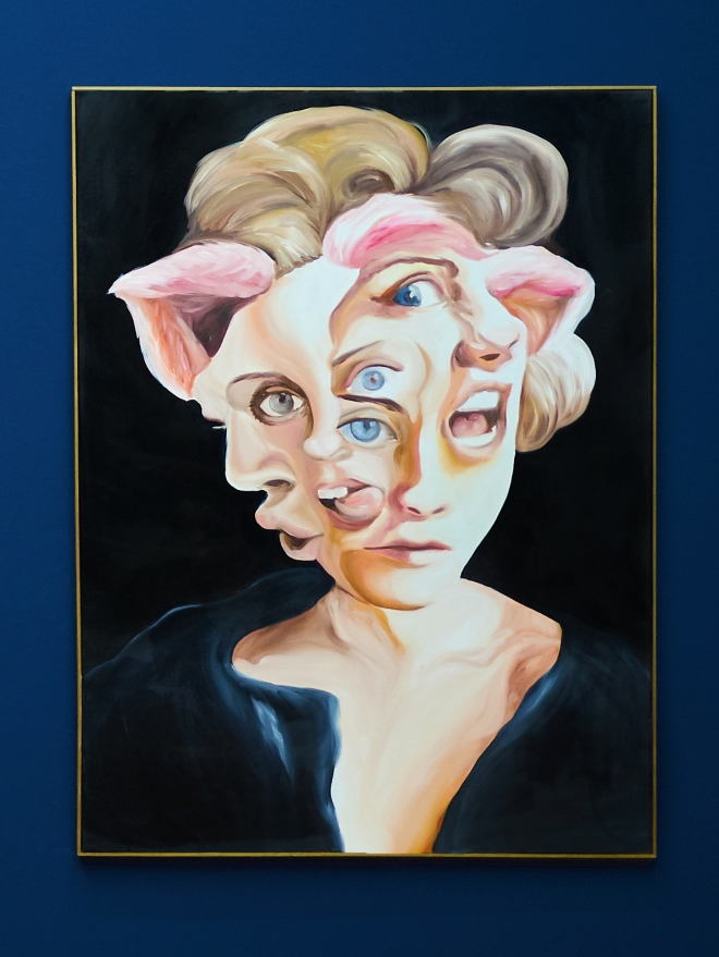 Portrait with Pink ears and Many Mouths lighter