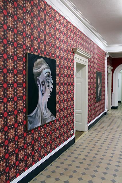 Villa Merkel Hallway upstairs Atrium Charlie Stein Exhibition