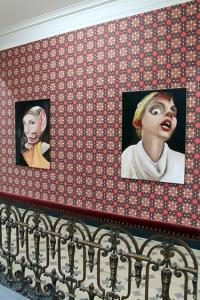 Villa Merkel walls oilpainting Charlie Stein Exhibition