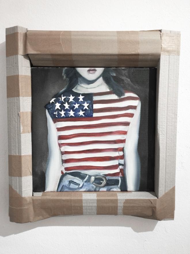 american flag model