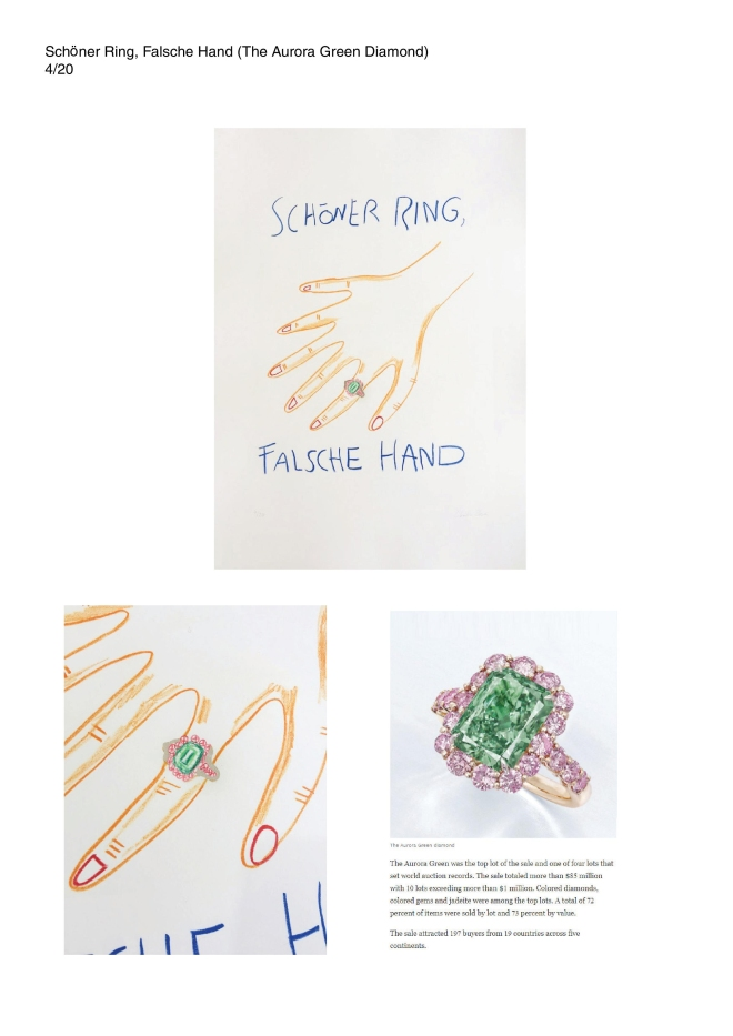 2019 Lithography Edition Charlie Stein-4- The aurora Green diamond Ring